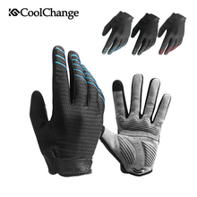 CoolChange Cycling Gloves Sponge Pad Long Finger Sport Touch Screen Bike Shockproof Motorcycle Man Woman Bicycle Glove