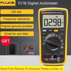 Fluke 18b + testador de led ac/dc tensão e corrente multímetro digital tensão tester tensão resistência capacitância teste