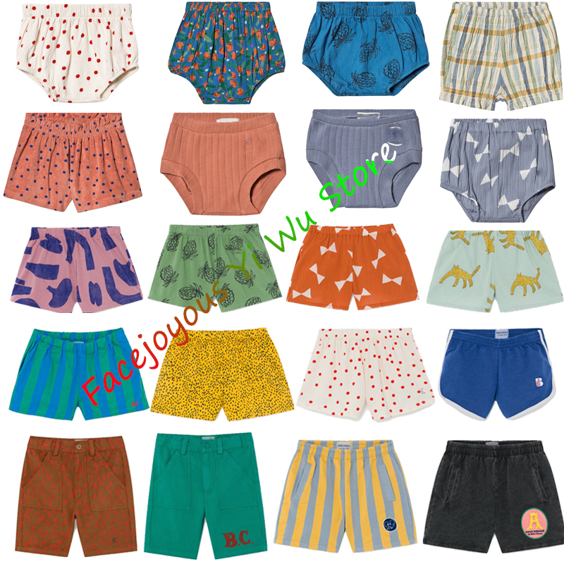Pre-sale Kids Shorts BC-2020-SS Student Shorts Boys Toddler Girls Cotton All Over Leopard Woven Print Clothes Children Pants
