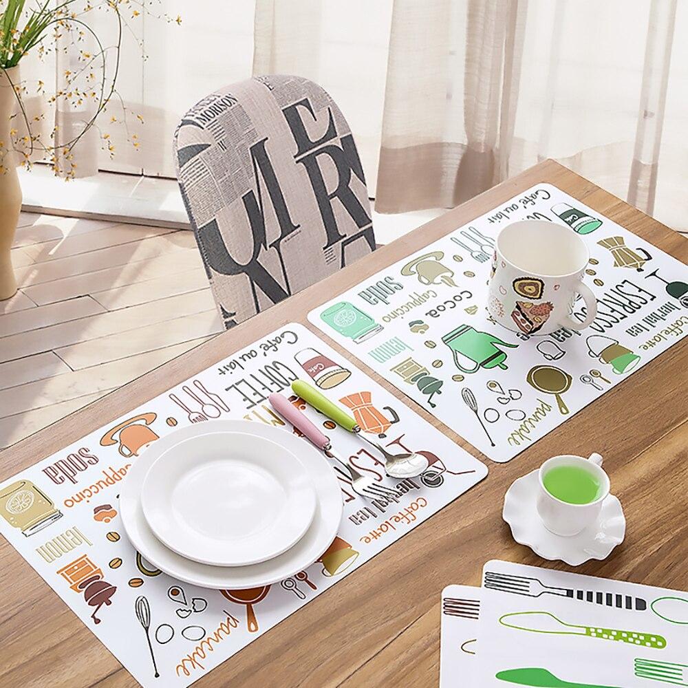 Soild Color Coaster PVC Table Mats Heat Insulation Dinner Bowl Placemat Decor