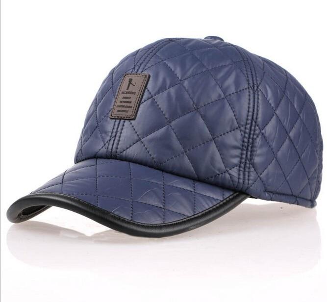High Quality Baseball Cap Men Autumn Winter Fashion Caps Waterproof Fabric Hats Thick Warm Earmuffs Baseball Cap 3 Colors