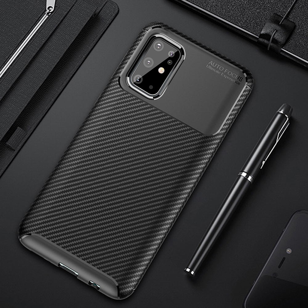 Para Samsung Galaxy S20 S 20 Ultra funda de lujo de fibra de carbono funda de teléfono a prueba de golpes para Samsung S20 + S 20 Plus 5G