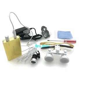 Image 4 - CE Bestanden Dental Lupen Mit Licht 3,5 X420mm Chirurgische Fernglas Gläser Lupe mit LED Scheinwerfer