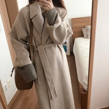 VZFF 2019 Women Korean Winter Long Overcoat Outwear Coat Loose Plus Size Cardigans Sleeve Manteau Femme Hiver Elegant