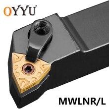 OYYU MWLNR 2020 2525 MWLNR1616H08 MWLNR2020K08 mwlnr25m08 portaherramientas de torno, barra de perforación, cortador CNC, portaherramientas externo de torno