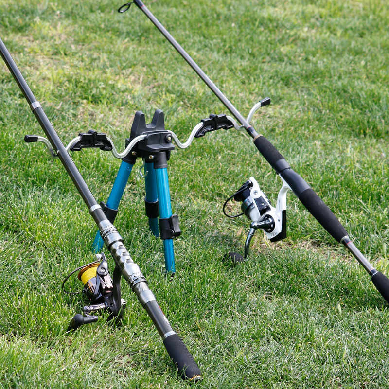 Sougayilang aluminium trépied Portable télescopique support de pêche trépied nuit pêche lumière support canne à pêche support