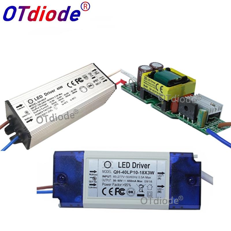 2pcs LED Power Supply 600mA Lamp Driver 3W 6W 9W 12W 15W 18W 20W 21W 24W 30W 40W 50W 60W Isolation Lighting Transformer