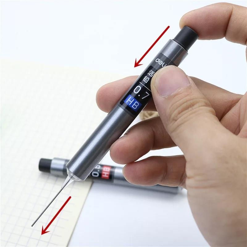 Автоматический карандаш с наполнителем 0,7 0,5 HB, канцелярские принадлежности без грязных рук, офисные и школьные принадлежности