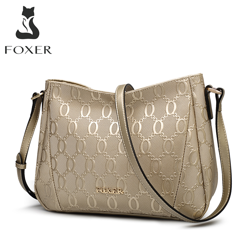 New Women Split Cow Leather Shoulder Bag Embossed Handbag Travel Bag Tote Size M