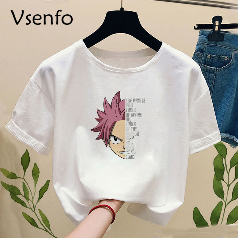 Janpanese Anime Fairy Tail T-shirt Women Casual O-Neck Short Sleeves Summer Printed Tshirt Top Tee T Shirt Womens Clothing