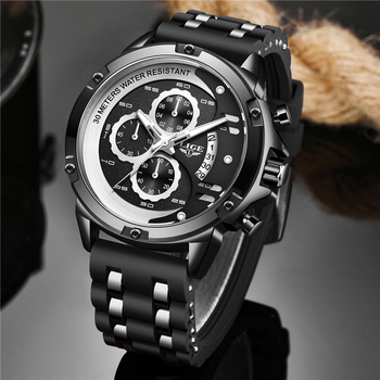 2020 Warterproof Watch Sports Silicone Mens Watches LIGE Top Brand Luxury Clock Male Business Quartz Watch Men Relogio Masculino