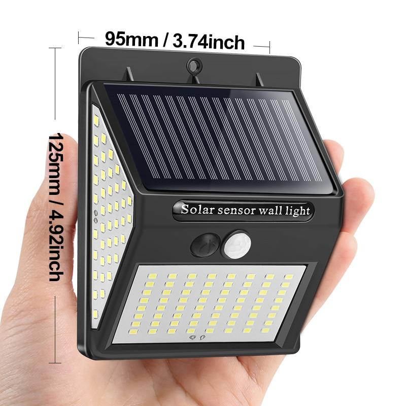 Goodland 144 100 LED Solar Light Outdoor Solar Lamp PIR Motion Sensor Solar Powered Sunlight Street Light for Garden Decoration 2