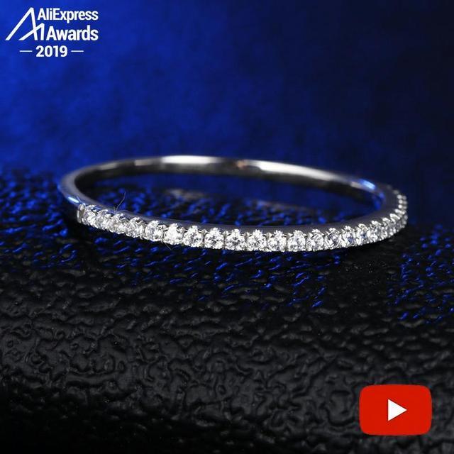 עגול לחתוך S925 סטרלינג כסף טבעת SONA יהלומי Halo טבעת יפה ייחודי סגנון אהבת חתונת אירוסין