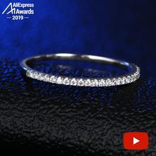 Кольцо с круглой огранкой из стерлингового серебра S925 пробы SONA Diamond Halo изящное кольцо Уникальный стиль любовь Свадьба Помолвка
