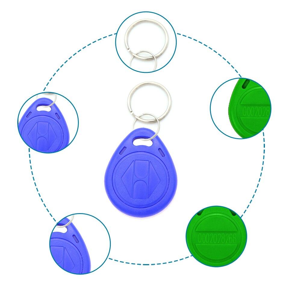 10 шт. EM4100 TK4100 125 кГц ID значок брелок RFID бирка близость метки карты llavero Porta Chave только для чтения контроля доступа RFID карты