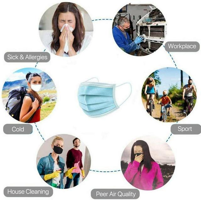 10/20/30/40/50/100pcs mouth mask Men Women Cotton Anti Dust Mask Mouth Mask Windproof Mouth-muffle Bacteria Proof Flu Face Masks 4