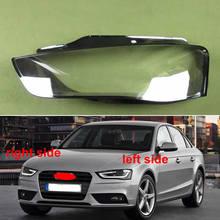 Cubierta de cristal para faros delanteros de coche, pantalla transparente para Audi A4, A4L, B9, 2012, 2013, 2014, 2015