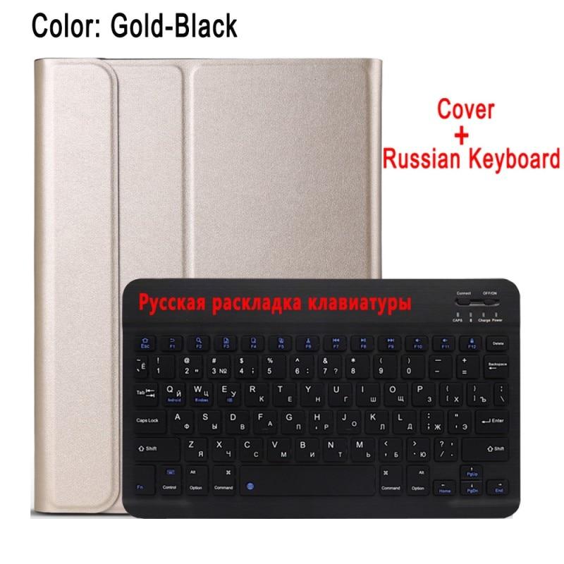 Russian Keyboard Gold Case Keyboard For Apple iPad 10 2 2019 7 7th 8th Gen Generation A2197 A2200 A2198