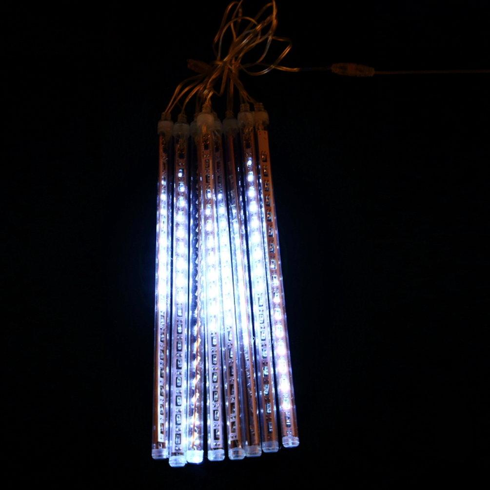 8P 30cm Mini LED Meteor Shower Fairy Light 144 LED