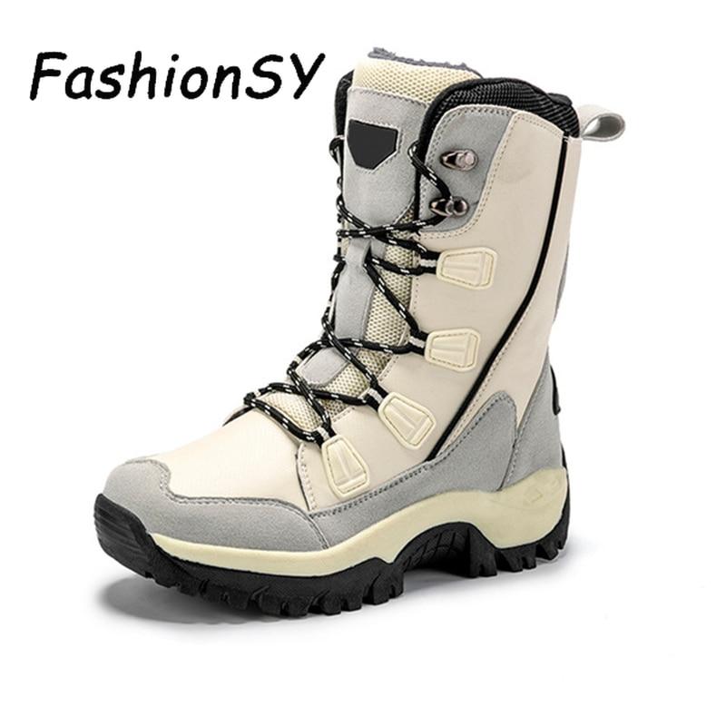 Women Boots Winter Mid Calf Snow Boots Ladies Lace Up Flat Platform Women's  Outdoor Non Slip Shoes Woman Plush Female Mid-Calf Boots  - AliExpress