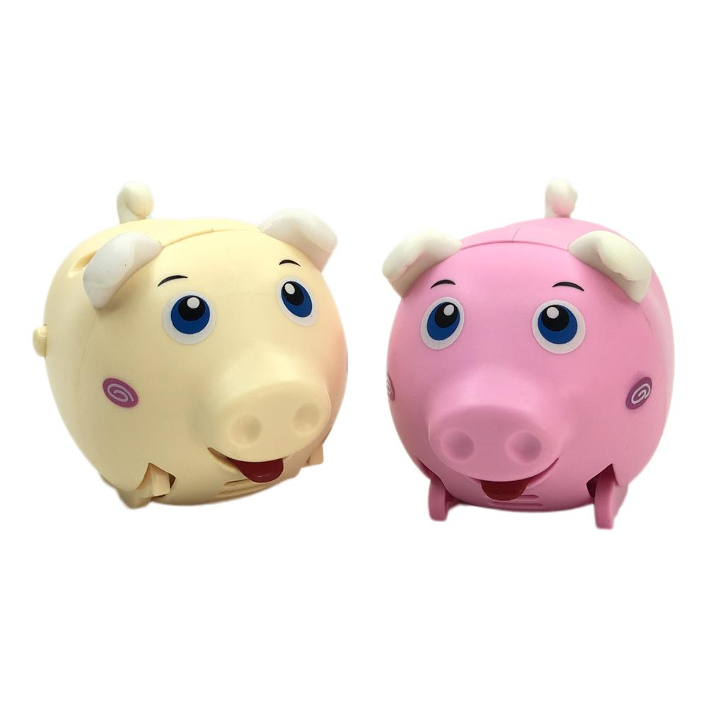 Cute Electric Music Walking Pig Toy LED Electronic Pets Toy Kids Educational Toy Whistle Induction Soft Silicone Material