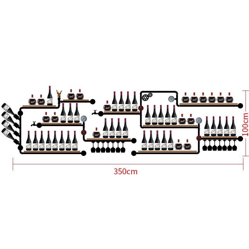 CF3 Tilted Types 1-16 Bottles Modern Iron Wall-mounted Wine Holder Simple Hanging Wine Rack Holde CF
