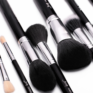 Image 2 - Jessup Pro 15 unids Maquillaje Pinceles Set Negro/Plata Cosmética maquillaje Herramienta Pincel Polvos Sombra de Ojos Delineador de Labios belleza