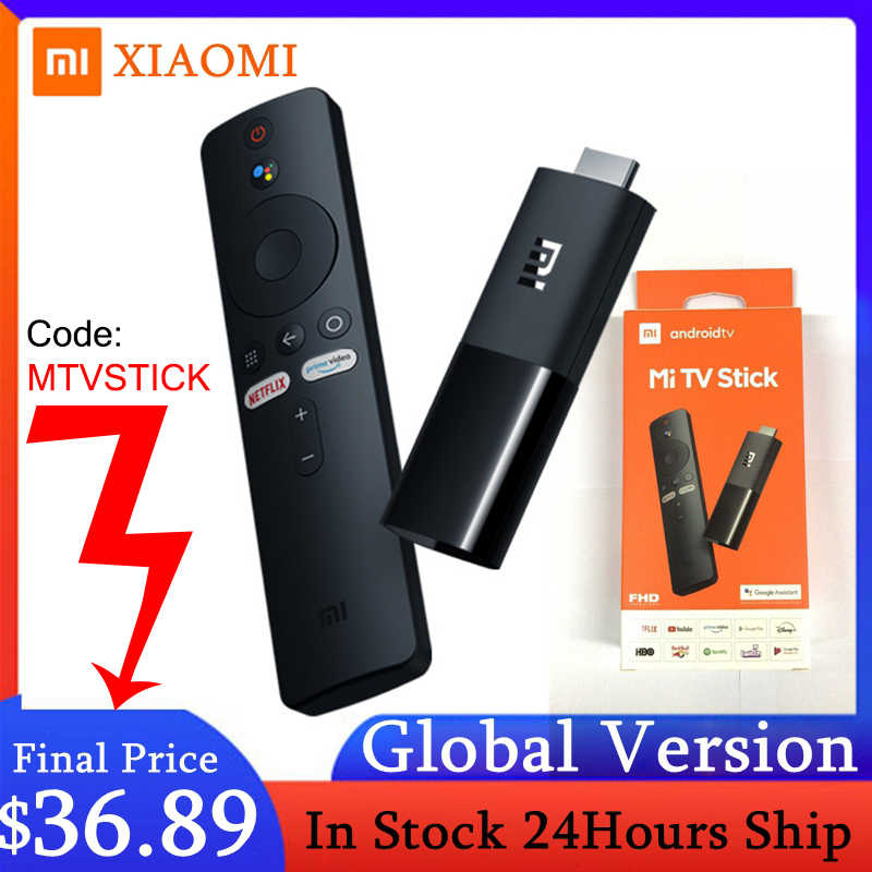 Xiaomi Mi TV Stick Globale Versione di Android TV 9.0 2K HDR Quad Core HDMI 1GB di RAM 8GB ROM Bluetooth Wifi 5 Netflix Google Assistente