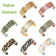שיקום קרם טבעי זהב קאף צמידים לנשים נירוסטה צמידי קסמי מעדן מעולה שיק להחלפה עור צמיד
