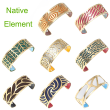 Cremo Natural Gold Cuff Bracelets For Women Stainless Steel Bangles Charms Dainty Exquisite Chic Interchangeable Leather Bangle