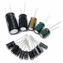 120 pçs/lote 15 valor 50v 1uf-2200uf kit capacitor eletrolítico