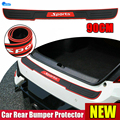 Universal Car Rear Bumper Protector Trunk Door Guard Strips Sill Plate Rubber Mouldings Pad Trim Cover Stickers Auto Accessories