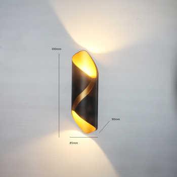 New Led Outdoor Wall Light Garden Porch Home Lamp IP65 Modern Aluminium Baking Tempered Glass Waterproof Black Gold White