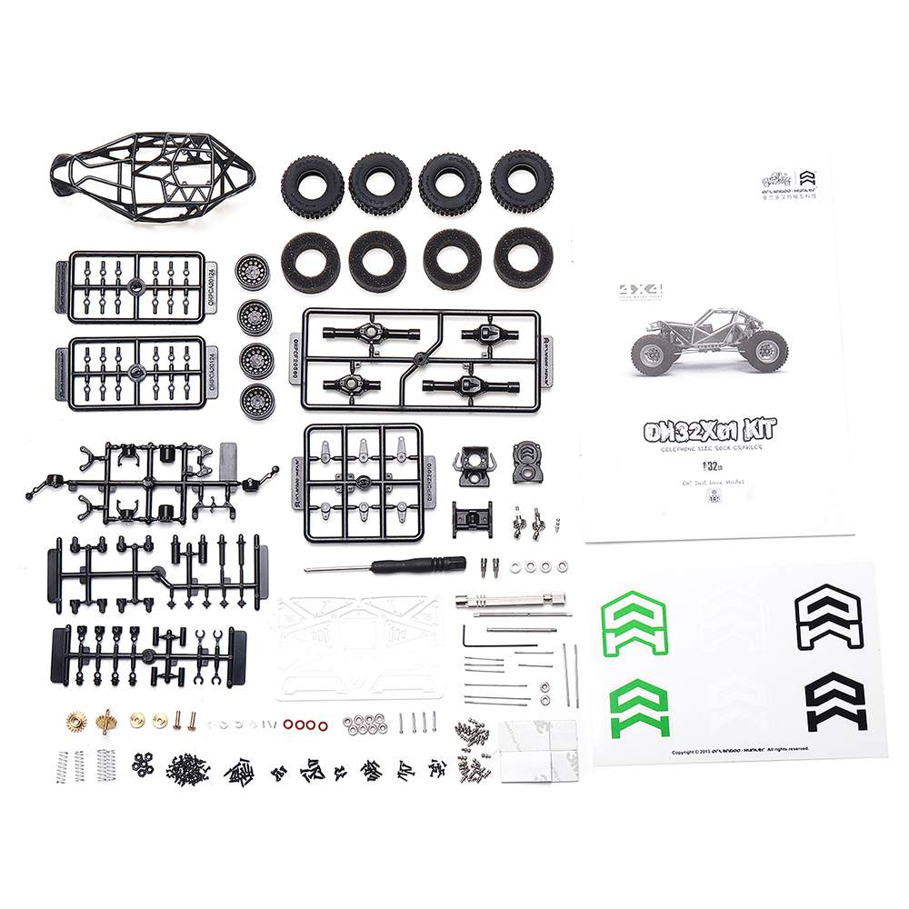 Orlandoo Hunter OH32X01 1:32 4WD DIY Frame Remote Contro RC Kit Rock Crawler Car Off-Road Vehicles without Electronic Parts