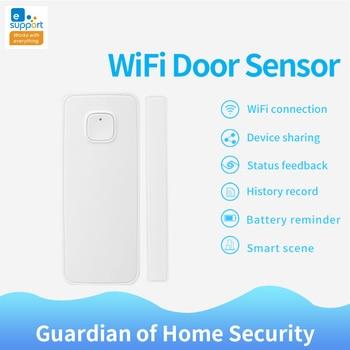 Sensor de puerta WIFI Ewelink, Control de aplicaciones, alarma de seguridad de puertas, interruptor magnético, inalámbrico de ventana y puerta, Sensor de apertura, funciona con Alexa