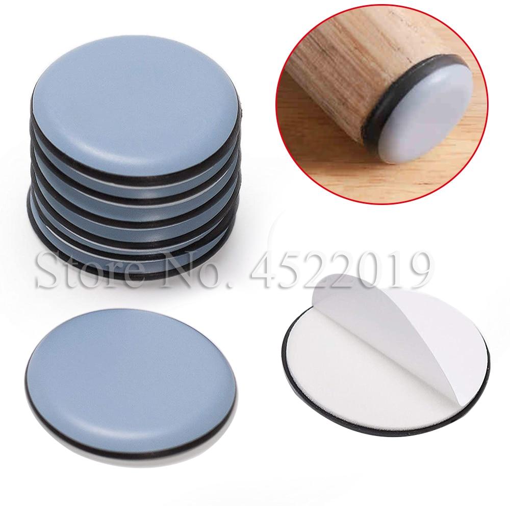 48PCS Teflon Furniture Sliders Plastic Feet Nail Plastic on Table Chair Glide Protectors Noise Easy Installation