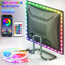 Bluetooth LED Lights StripS USB RGB SMD 5050 DC5V Flexible Lamp Tape Diode TV Background Lighting luces LED Control and adapter