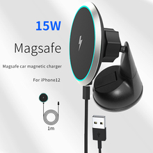 For iphone 12 Pro Max 12 mini 15W Magsafe Wireless Charger Magnetic Phone Car Holder Airvent Magnet Adsorbable Car Mount