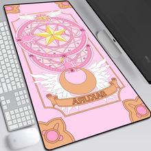 Коврик для мыши xgz 90x40 см с аниме картой милый большой игровой