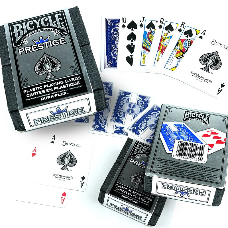 American Bicycle Prestige Plastic Playing Cards Bicycle Prestige Plastic Single License Plate