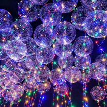 10 Sets Led Glow Balloons Unique Party Balloons Light Up Transparent Glowing Balloons Birthday Wedding Banquet Party Supplies