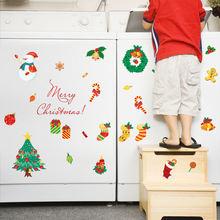 Рождественская мультяшная Наклейка на стену для детской комнаты