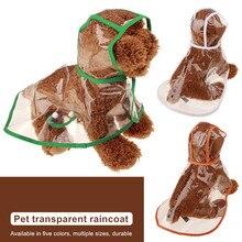 Pet-Jacket Coat Dogs Rain-Dog Waterproof Large Windproof-Design for Transparent Adjuastable