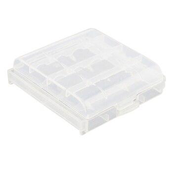 Paquete de 4 piezas AA/AAA batería de almacenamiento caso caja-claro