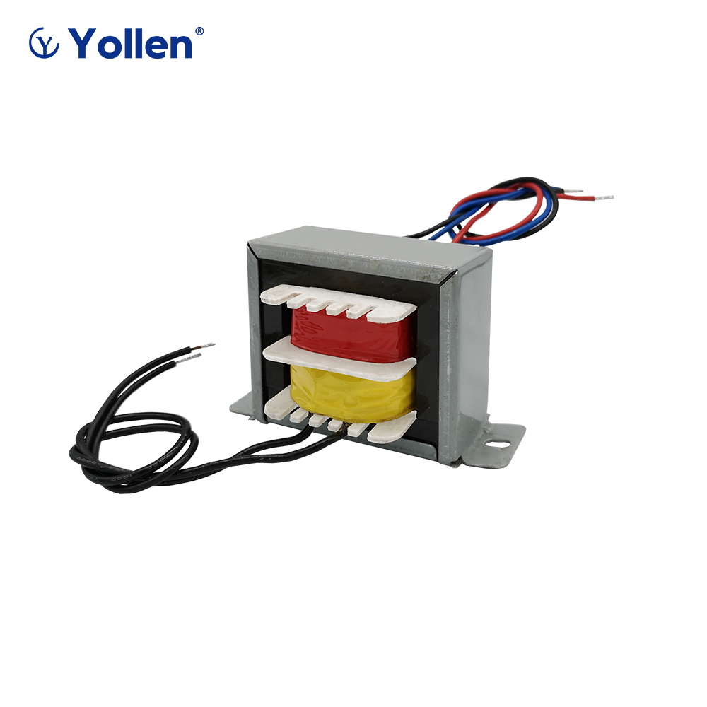 EI 30W WIRE CONNECTION TYPE POWER TRANSFORMER <font><b>30VA</b></font> VOLTAGE ADJUSTMENT 220V/380V to 6V/9V/12V/15V/18V/24V CAN CUSTOMIZED image