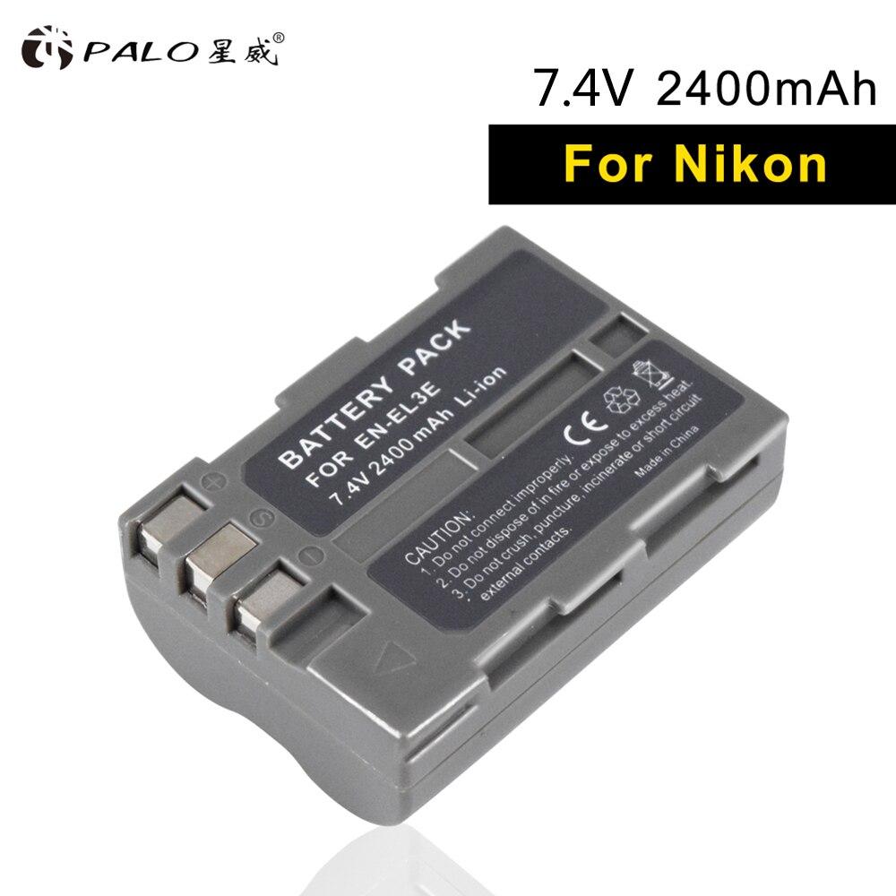 PALO de batería de la Cámara EN-EL3E batería recargable el 3e 7,4 V 2400mAh 1 piezas Li-Ion digital para NIKON d700 d90 d200 d300S d70 d100