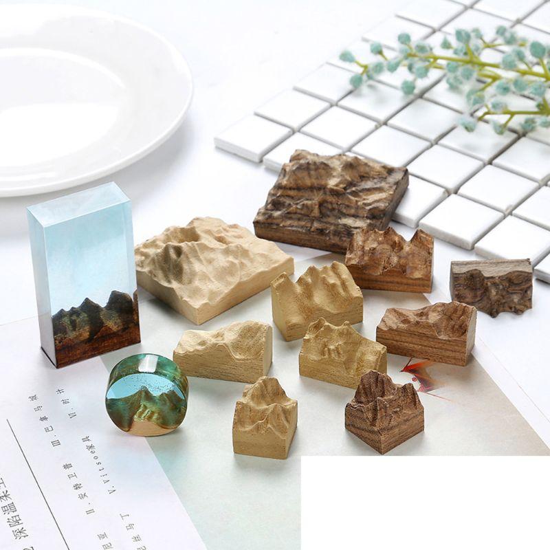 Resin Epoxy Art Craft Sandalwood Natural Unfinished Wood Pendant Jewelry Making
