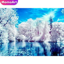 MomoArt Diamond Painting Landscape Embroidery Tree Scenery Mosaic Full Square Drill Rhinestone Needlework