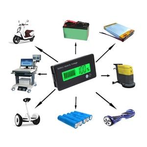 Image 2 - Pil test cihazı 12V/24V/36V/48V 8 70V LCD asit kurşun lityum pil kapasitesi göstergesi voltmetre gerilim pil test cihazı s araçları