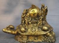 wedding decoration China myth Brass Turtle Sea Tortoise longevity peach Eight Immortals god Statue